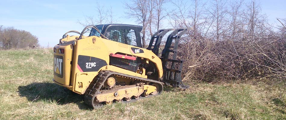 Tree shear services brush removal at Columbia, MO.
